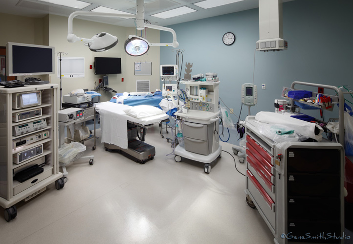 Hospital operating room and equipment
