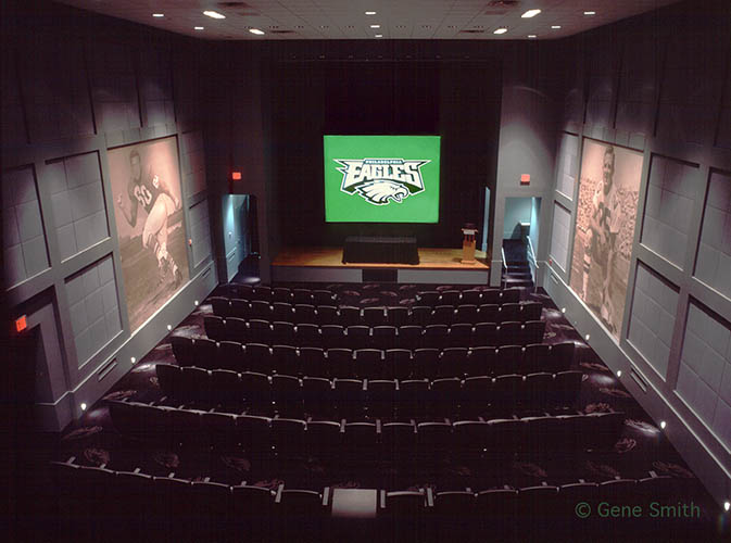 Philadelphia Eagles training film auditorium