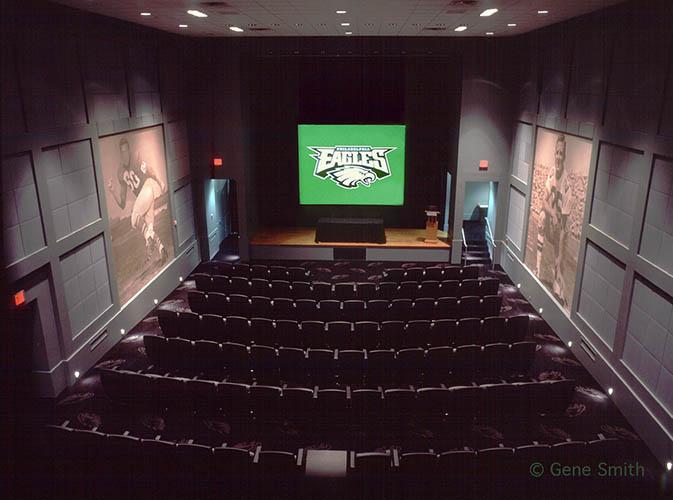Philadelphia Eagles training film auditorium