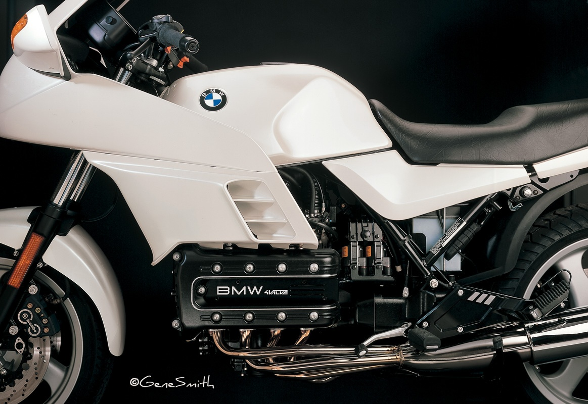 Beautiful Ivory colored BMW water cooled four cylinder K 1000 Motorcycle.