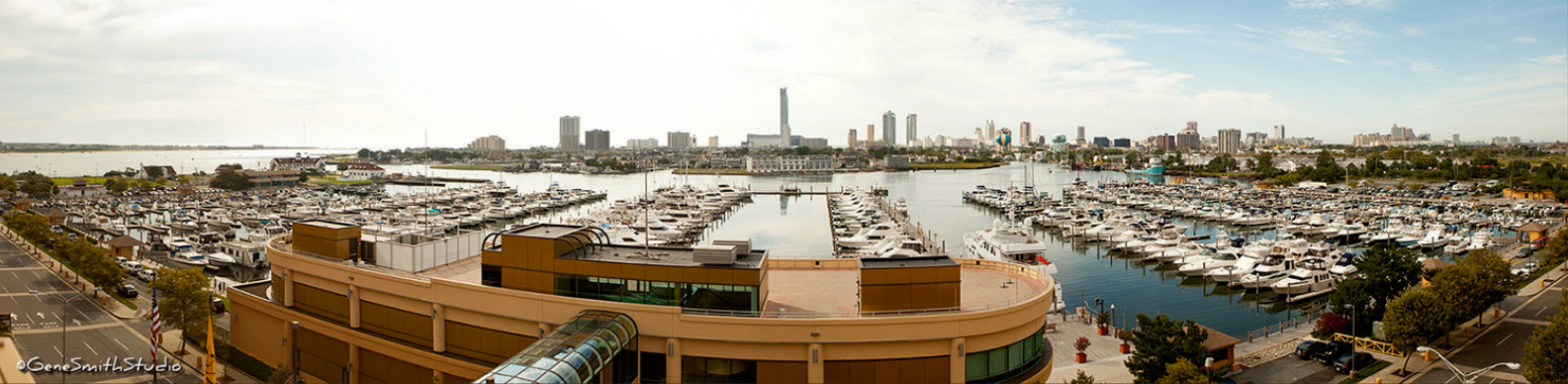 Panoramic view of Senator Frank Farley State Marina Atlantic City, NJ