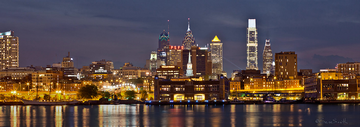 City of Philadelphia skyline from Camden waterfront