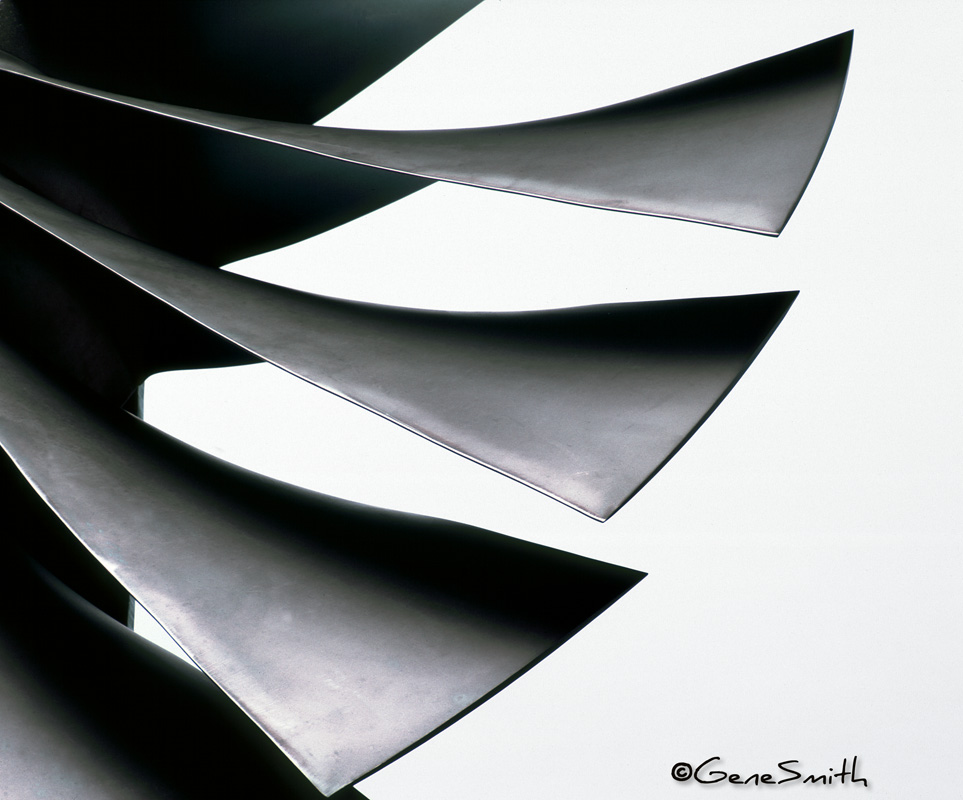 Rolls Royce jet engine graphically photographed for corporate brochure and advertising