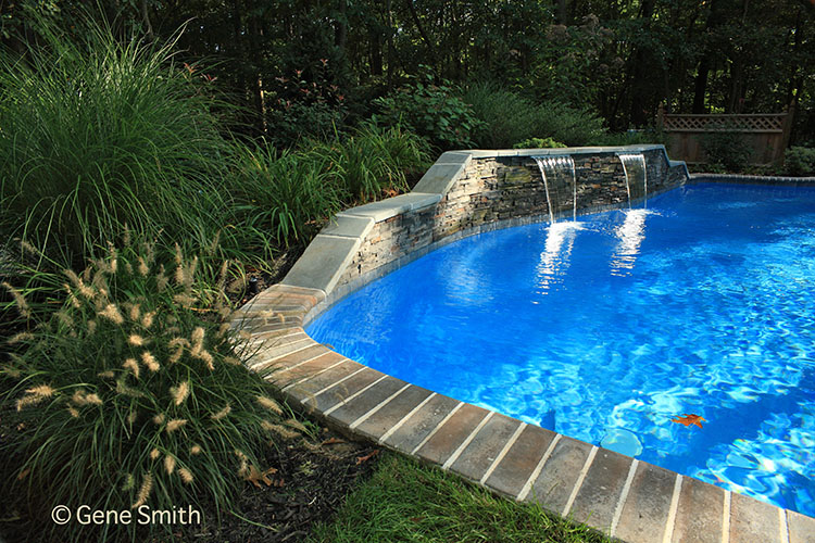 swimming pool in natural setting