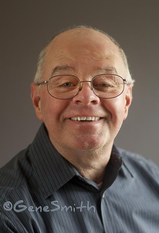 Artist portrait in window light by Gene Smith Studio. Ken Barlieb is an artist who has his business in Delran NJ.