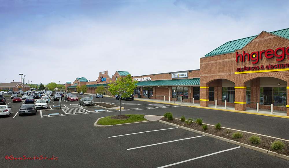 suburban shopping center