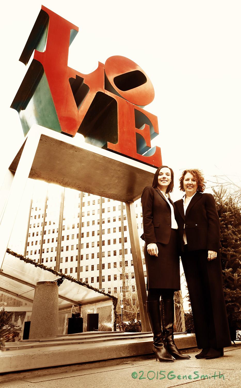 Duane Morris Pro-Bono Team attorneys at Love Park