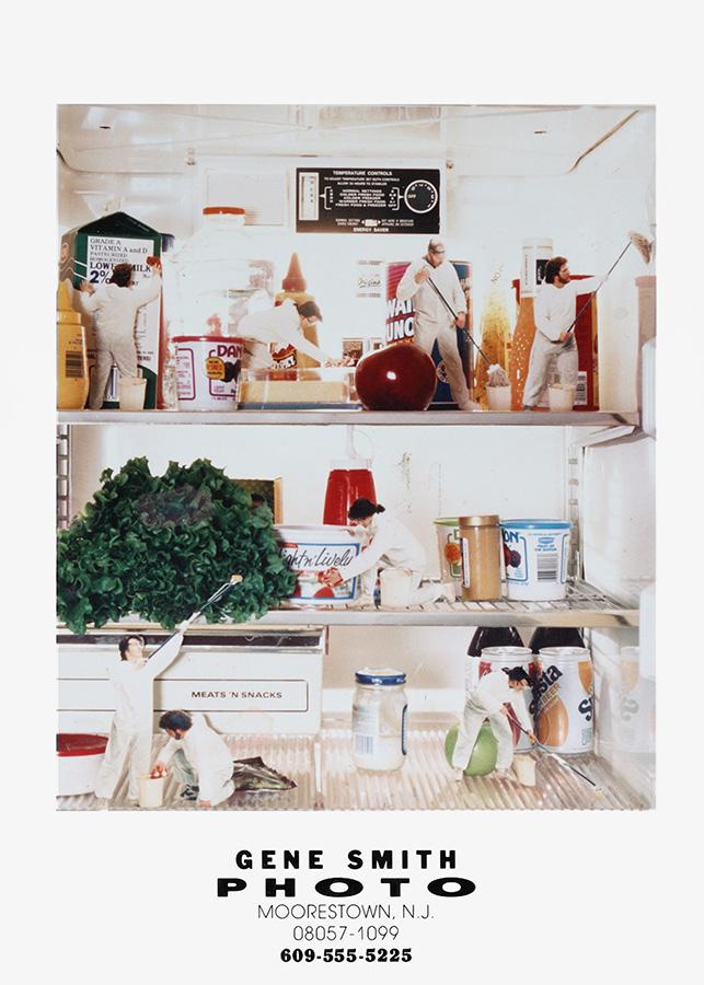 Darkroom Photo Composite of Tiny Refrigerator Clean-up Crew