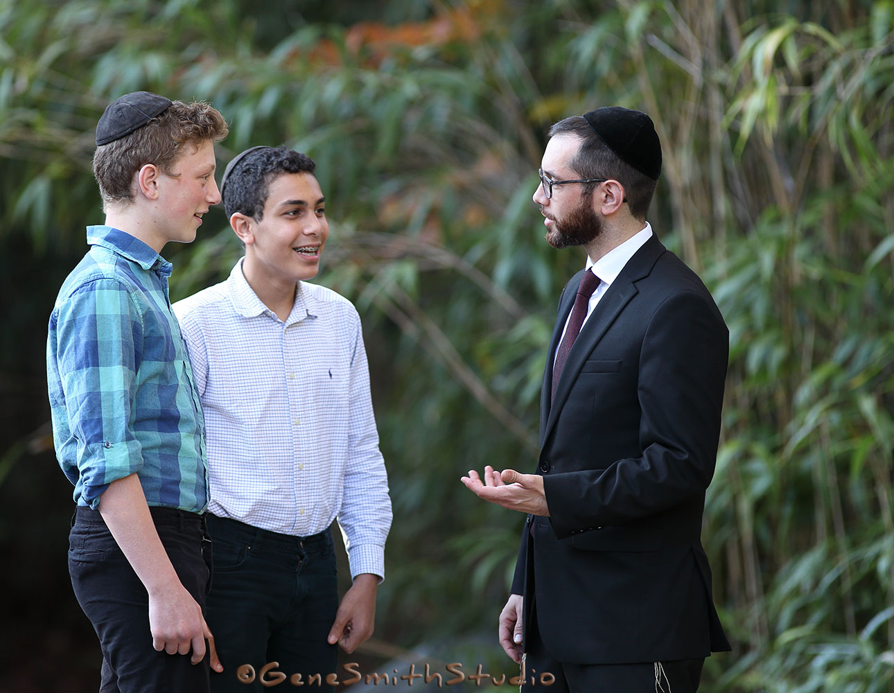 Rabbi and Students