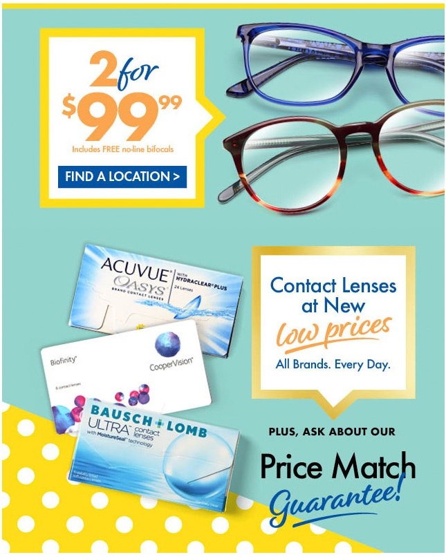 This ad for Boscov's Department Store features product photography by Gene Smith Studio for US Vision Blackwood NJ.